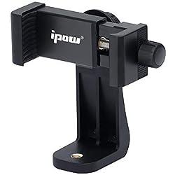 """ipow Supporto smartphone cavalletto Attacco smartphone treppiede Adattatore treppiede smartphone Universale Rotazione a 360 gradi per treppiedi selfie bastone da 2,3""""a 4"""""""