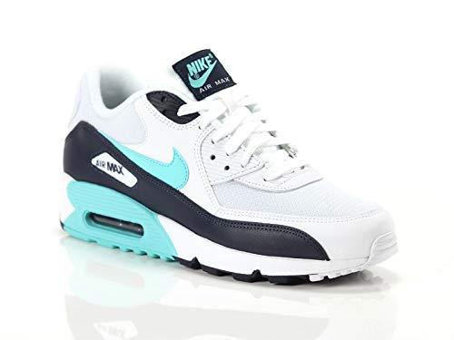 sale retailer acdfa b9841 Nike Air Max 90 Essential, Scarpe da Fitness Uomo, Multicolore (White  Aurora Green