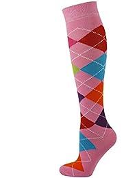 MySocks Hommes Femmes Genou Haute Chaussettes Argyle Taille 36 à 46 b50815dab3f