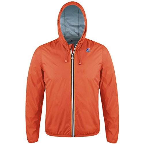 K-Way Herren Regenjacke Orange - Flame