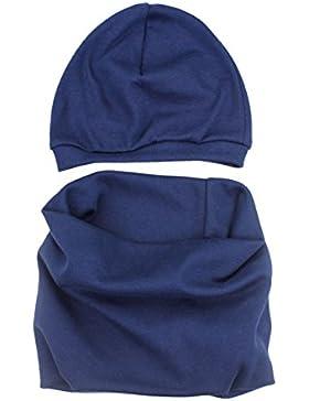 TumTap Unisex Kinder Mütze und Schal Set Baumwolle