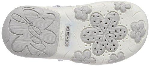 Geox B Sandal Nicely B, Scarpe Primi Passi Bambina Bianco (white/silver)