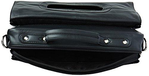 Visconti - Sac gibecière - Serviette pour le bureau - En cuir souple noir - 659 Noir