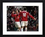 Rooney und Van Nistlerooy gerahmtes Foto