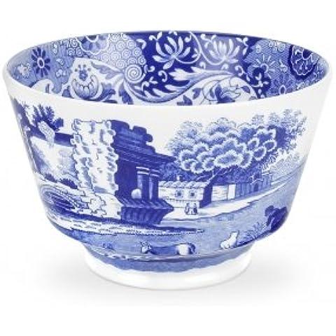 Spode Blue Italian - Azucarero, diseño de paisaje italiano, color azul y blanco