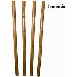 Juego de 4 cañas de bambú by Homania