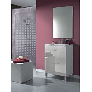 DEKOR Meuble 60 salle de bain avec miroir