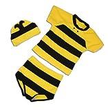 Cinda Jungen Schwimmenset Bee Schwarz und Gelb 92 - 98