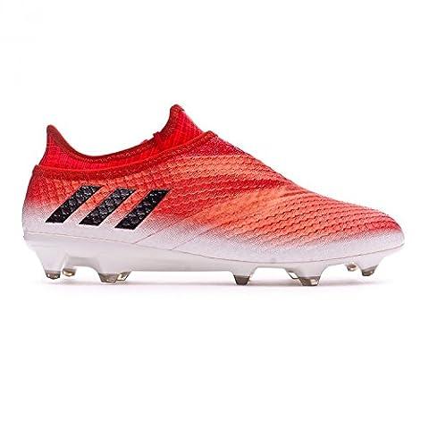 Messi 16+ Pure Agility FG - Crampons de Foot - Blanc/Noir/Rouge - taille 9.5 UK