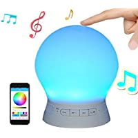 Silikon-Bluetooth-Lautsprecher mit Smart Touch-LED-Stimmungs-Lampen, Musik-Player / Hands-Free Bluetooth-Freisprecheinrichtung... preisvergleich bei billige-tabletten.eu