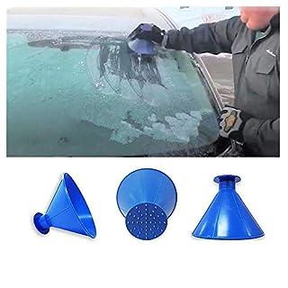 Balock Schuhe Cone-Shaped Auto Windschutzscheibe Schneeräumung Scraper Schaufel Fensterreinigungswerkzeug,Windschild Eiskratzer Round Magic Cone-Shaped Eiskratzer (Blau)