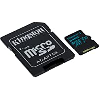 Kingston Canvas Go SDCG2/64GB MicroSD Card Capturing Life on the Move, Class 10 UHS-I U3, SD Adapter Included