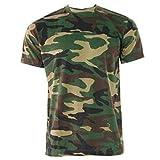 GAME Hombre Caza Camuflaje Manga Corta Cuello Redondo Camiseta - Bosque, X-Large