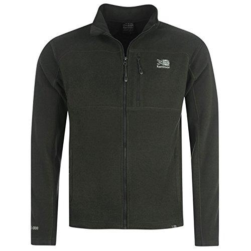 Karrimor Herren Fleece Jacke Zip Langarm Warm Fleecejacke Pullover Top Grau Large