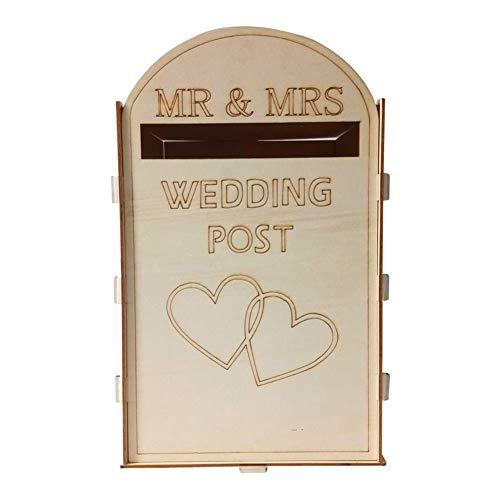 Aavbr Hochzeit Briefkasten Briefkasten Wand DIY Party Supplies Rustikal Gefallen Handwerk Geschenk Holz Retro Guest Kartenhalter Dekoration (Rustikale Diy Hochzeit)