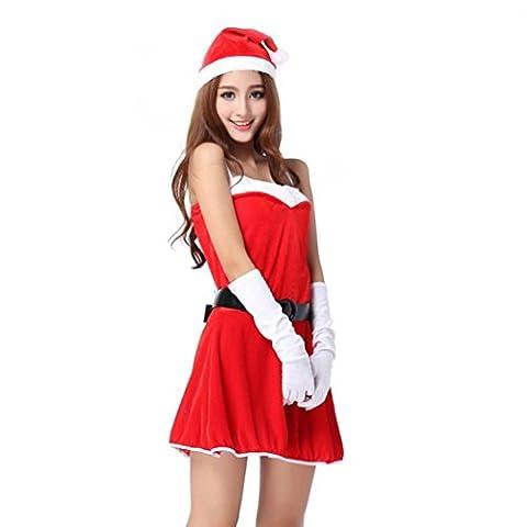Zolimx Frauen Sankt Weihnachten Kostüm Verrücktes Kleid