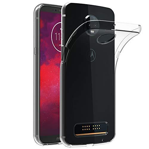 iVoler Motorola Moto Z3 / Motorola Moto Z3 Play Hülle, Premium Transparent Klare Tasche Schutzhülle Weiche TPU Silikon Gel Schutzhülle Case Cover