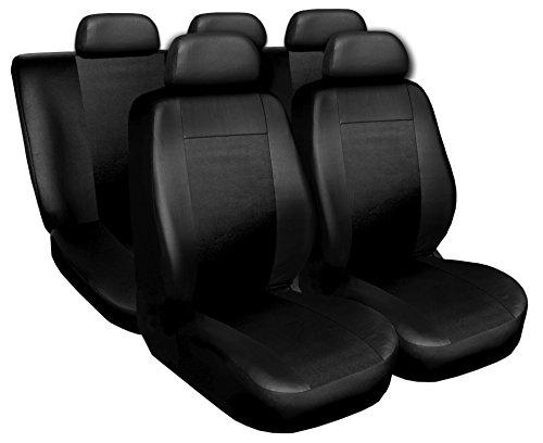 Coprisedili Auto Anteriori e Posteriori Copri-Sedile Airbag Sistema Superior - Nero
