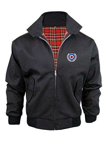 mod-target-scooter-piel-harrington-chaqueta-perchero-de-pared-de-forro-de-tartan-negro-negro-xx-larg