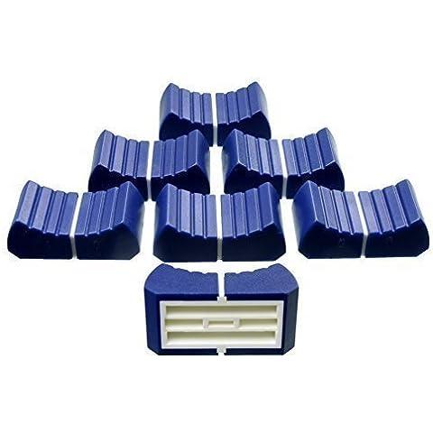 6 x Prof. Botón de fader azul 4mm Palanca 6 Tapa de atenuador Tapa atenuador Gorras