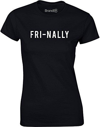 Brand88 - Fri-nally, Mesdames T-shirt imprimé Noir/Blanc