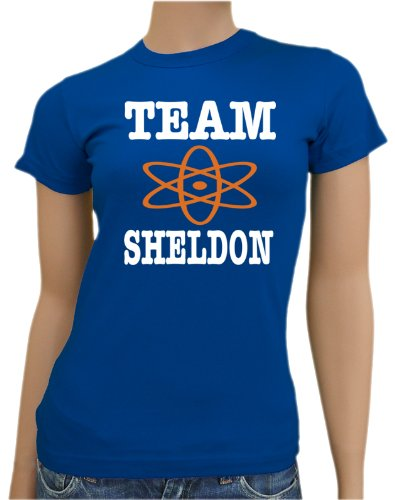 The Big Bang Theory – Team Sheldon Ladies T-shirt XS – XXL diff. Couleur - bleu - Medium