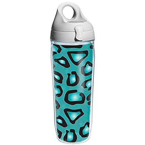 Tervis Leopard Print Teal Water Bottle, 24 oz, Clear by Tervis