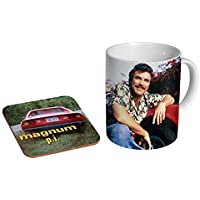Magnum PI Tom Selleck Ceramic Coffee MUG + Coaster Gift Set …