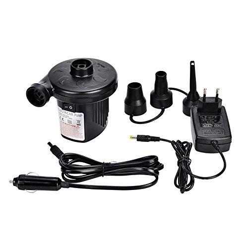 HHY Elektrische Luftpumpe,Vitutech 2 in 1 Auto Elektropumpe mit Luftdüse für aufblasbare Matratze, Kissen, Bett, Boot, Schwimmring