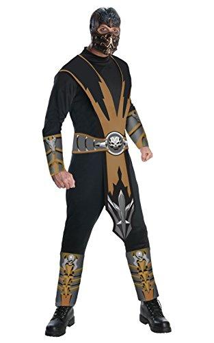 Mortal Kombat Scorpion, Erwachsene Kostüm–Große (Kostüm Von Scorpion)