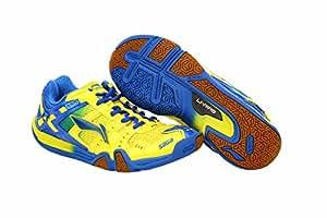 Li-Ning SAGA ltd Edition Badminton Shoes Yellow/Blue-10