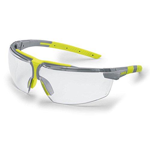 UVEX Schutzbrille i-3 add - 2.0 Dioptrien, Augenschutz, Sicherheitsbrille, Arbeitsschutzbrille mit klarer Scheibe