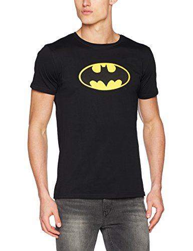 (MERCHCODE Herren Batman Logo Tee T-Shirt, Black, S)