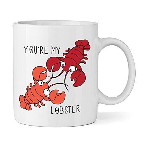 Cotización de eres mi langosta 11 oz taza - Animal divertido de amor del café del té de la novedad