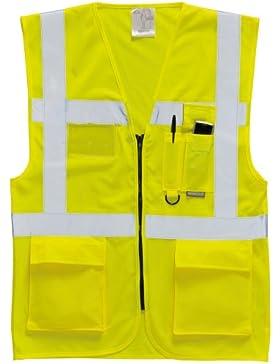 Portwest funda de alta visibilidad funda tipo libro para/agenda de chaleco para hombre/Safetywear, amarillo, S476