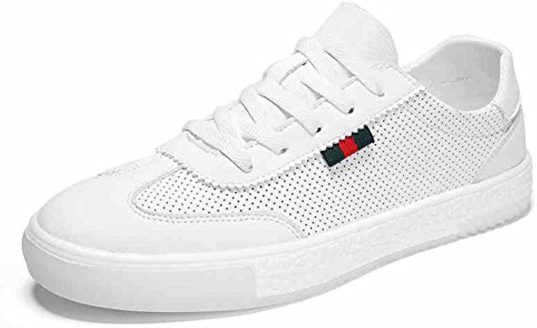 QIDI Freizeitschuhe Männlich Atmungsaktiv Weiß Flacher Boden Trend Leinwand Einzelne Schuhe (Größe : EU43/UK9)