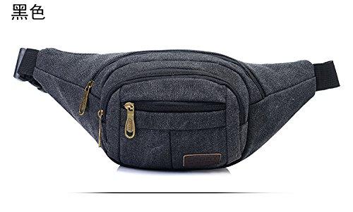 Mefly Sport Lavato Borsa Di Tela Sacchetto Torace Uomini E Donne Bag Black black