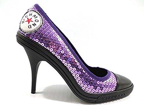 scarpe donna RICHMOND 35 EU decoltè viola nero pailettes WH291