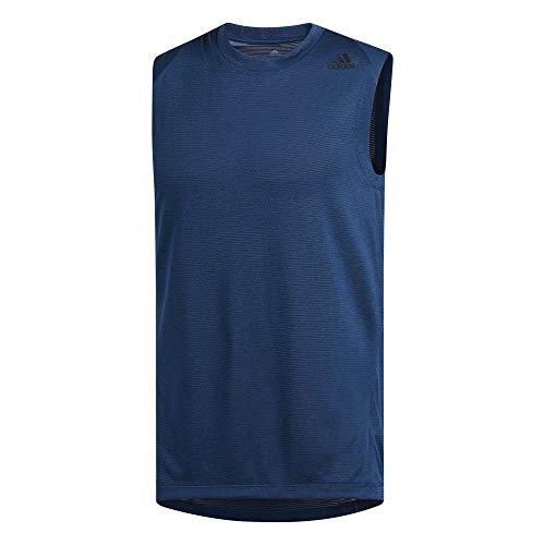 adidas Herren Freelift Tech Climacool 3-Streifen Shirt, Legend Marine/Heather, 2XL -