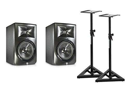 JBL LSR 308 Aktiv Studio Monitor PAAR SET + Stative