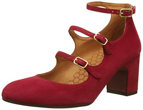 Chie Mihara Damen Flawless Pumps Rouge (rosso Pelle Scamosciata)