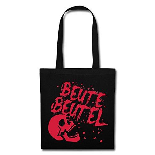 Spreadshirt Beutebeutel Mit Totenschädel Süßigkeiten Halloween Stoffbeutel, Schwarz