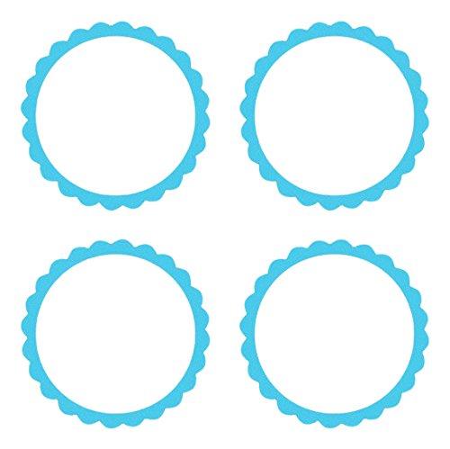 Amscan Personalisierbare Sticker 20er Pack hellblau