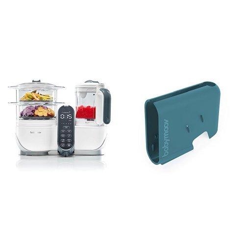 Babymoov Nutribaby (+) loft white - Multifunktions Küchenmachine + Babymoov Displaygehäuse Nutribaby (+) arctic blue