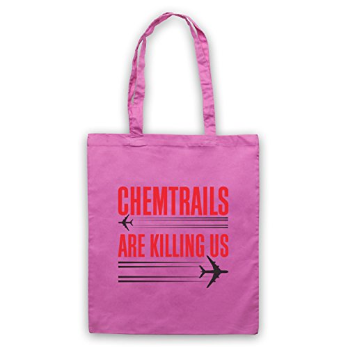 Chemtrails Are Killing Us Protest Umhangetaschen Rosa