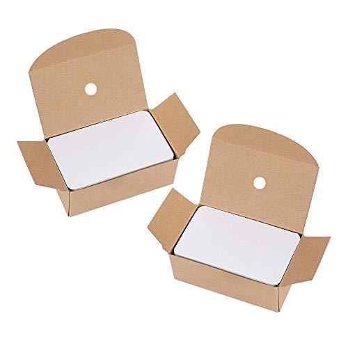 Gobesty - mini taccuini bianchi su entrambi i lati, non appiccicosi, per appunti, messaggi, regali, scrapbook, 200 fogli