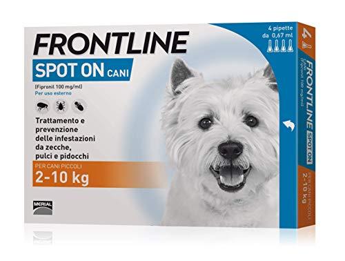 Frontline spot-on cani piccoli 4 pipette (2 - 10 kg)