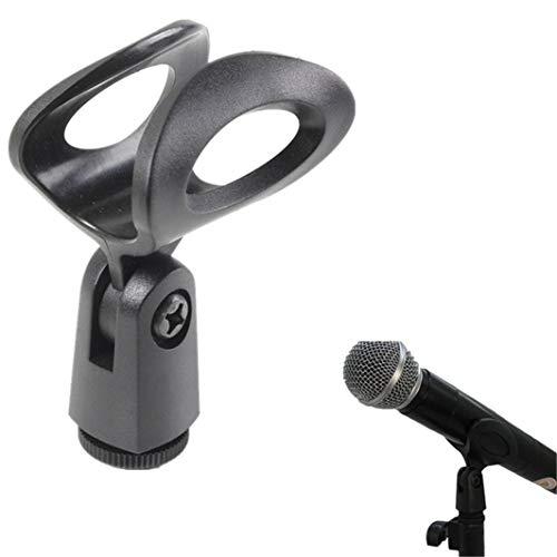 SHIJIAN Multi Arten Schwarz Hohl Mikrofon Clip Oval Rechteck halboffene Mikrofon Clip für Lehre, Konferenz, Reiseleitung, Bühnenshow Mikrofon Zubehör, 1#