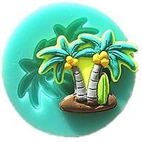 Zoomy Far: Molde de coco para fondant de palmera, tarta de chocolate de arcilla
