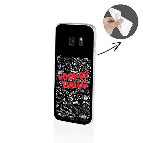 Samsung Galaxy S7 / S7 Edge Silicone Looney Tunes Série Art - Looney Tunes Graffiti noir, Samsung Galaxy S7 Edge